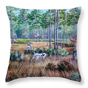 Quail Hunting...a Southern Tradition. Throw Pillow