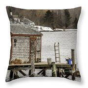 Quaint Fishing Shack New Hampshire Throw Pillow