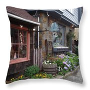 Quaint Rockport Throw Pillow