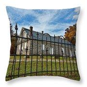 Quaker Meeting House - Warrington Throw Pillow