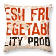 Quality Produce Throw Pillow