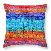 Quantum Cascade Throw Pillow