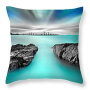 Quantum Divide Throw Pillow