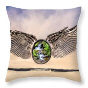 Quantum Escape Module Throw Pillow