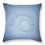 Quantum Nautilus Spotlight Throw Pillow