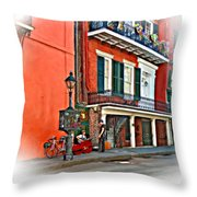 Quarter Time Painted 3 Throw Pillow