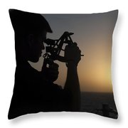 Quartermaster Uses A Statometer Aboard Throw Pillow