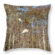 Quartet In The Trees Throw Pillow