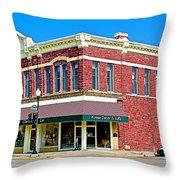 Quartzsite Building Built In 1884 In Pipestone-minnesota Throw Pillow