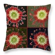Quatro Floral - 0102cba Throw Pillow