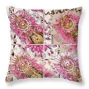 Quatro Floral - 22a Throw Pillow