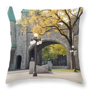 Bridge - Quebec Canada Throw Pillow