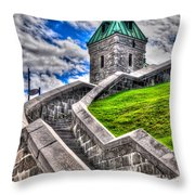 Quebec City Fortress Gates Throw Pillow