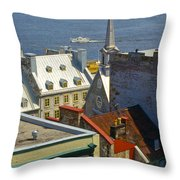 Quebec Lower Town Throw Pillow