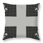 Quebec Metal Mesh Flag Throw Pillow
