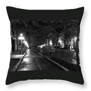 Quebec Night Throw Pillow