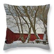 Quebec Winter Throw Pillow