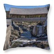 Quechee Covered Bridge Throw Pillow