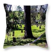 Quechee Vermont Cemetary Throw Pillow