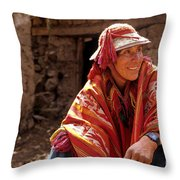 Quechua Man Sacred Valley Peru Throw Pillow