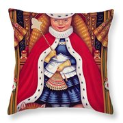 Queen Alice, 2008 Oil And Tempera On Panel Throw Pillow