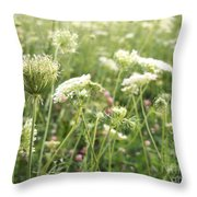Queen And Clover Throw Pillow