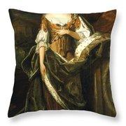 Queen Anne Of England (1665-1714) Throw Pillow