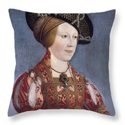 Queen Anne Of Hungary And Bohemia Throw Pillow