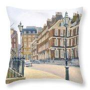 Queen Annes Gate Oil On Canvas Throw Pillow