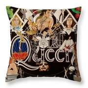 Queen - Black Queen White Queen Throw Pillow
