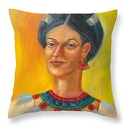 Queen Centehua Throw Pillow by Lilibeth Andre