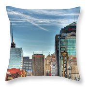 Queen City Downtown Throw Pillow