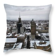 Queen City Winter Wonderland After The Storm Series 001 Throw Pillow