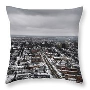 Queen City Winter Wonderland After The Storm Series 0010 Throw Pillow