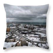 Queen City Winter Wonderland After The Storm Series 0011 Throw Pillow