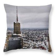 Queen City Winter Wonderland After The Storm Series 0012 Throw Pillow