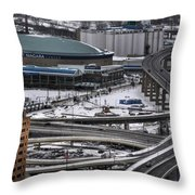 Queen City Winter Wonderland After The Storm Series 0014 Throw Pillow