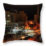 Queen City Winter Wonderland After The Storm Series 0015 Throw Pillow