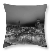 Queen City Winter Wonderland After The Storm Series 0018a Throw Pillow