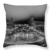Queen City Winter Wonderland After The Storm Series 0019 Throw Pillow