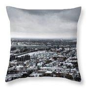 Queen City Winter Wonderland After The Storm Series 002 Throw Pillow