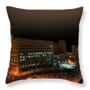 Queen City Winter Wonderland After The Storm Series 0020 Throw Pillow