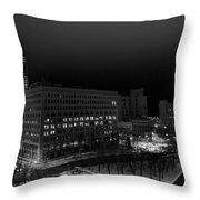 Queen City Winter Wonderland After The Storm Series 0020a Throw Pillow