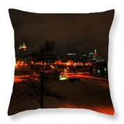 Queen City Winter Wonderland After The Storm Series 0024 Throw Pillow