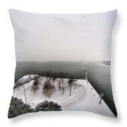 Queen City Winter Wonderland After The Storm Series 0034 Throw Pillow