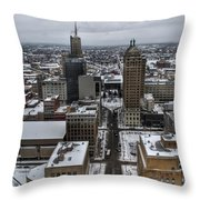 Queen City Winter Wonderland After The Storm Series 004 Throw Pillow