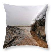 Queen City Winter Wonderland After The Storm Series 0041 Throw Pillow by Michael Frank Jr
