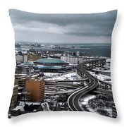 Queen City Winter Wonderland After The Storm Series 006 Throw Pillow