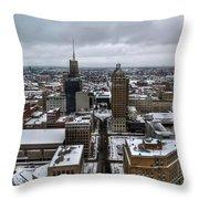 Queen City Winter Wonderland After The Storm Series 007 Throw Pillow