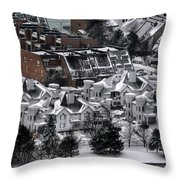 Queen City Winter Wonderland After The Storm Series0028 Throw Pillow